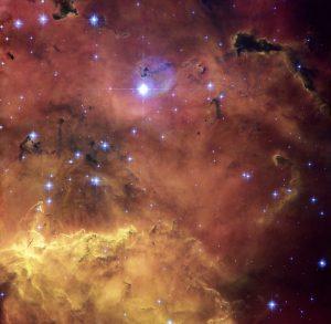 سحابی NGC2467 و ستارگان نوباوه