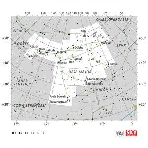 نقشه ی صورت فلکی دب اکبر