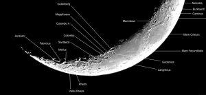 آموزش نجوم توسط محمد همایونی دهانه های هلال ماه