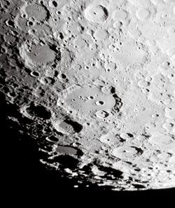 آموزش نجوم توسط محمد همایونی : دهانه ها و ارتفاعات ماه