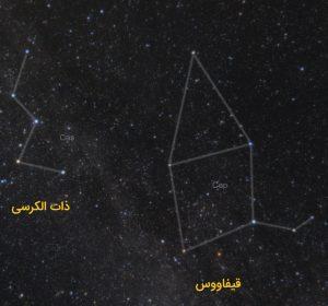 آموزش نجوم توسط محمد همایونی : 3ستاره در قیفاووس
