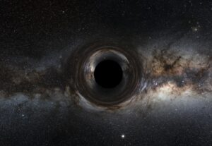 تصویر خیالی از سیاه چاله