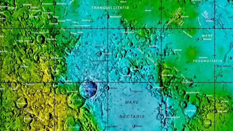 آموزش نجوم توسط محمد همایونی : نقشه دهانه های ماه به صورت مستقیم