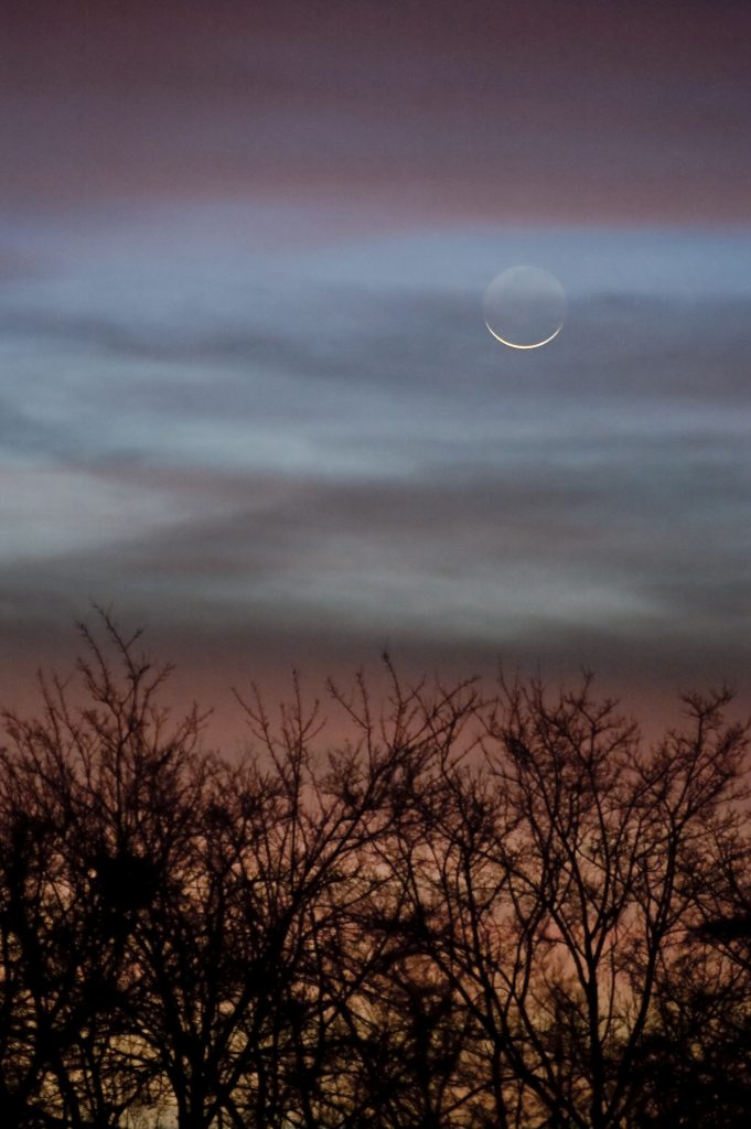 هلال ماه آموزش نجوم یادگیری نجوم توسط محمد همایونی