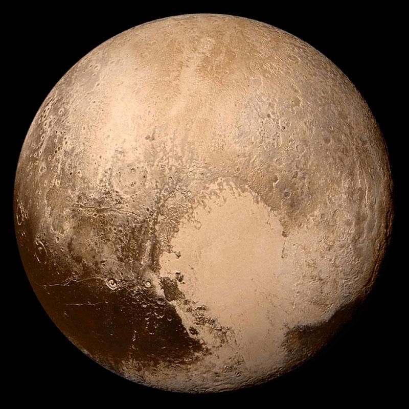 سیاره کوتوله پلوتون از دید کاوشگر افق های نو