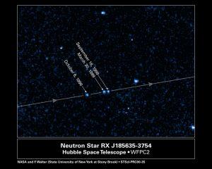 حرکت نزدیک ترین ستاره نوترونی RX-J1856.5-3754