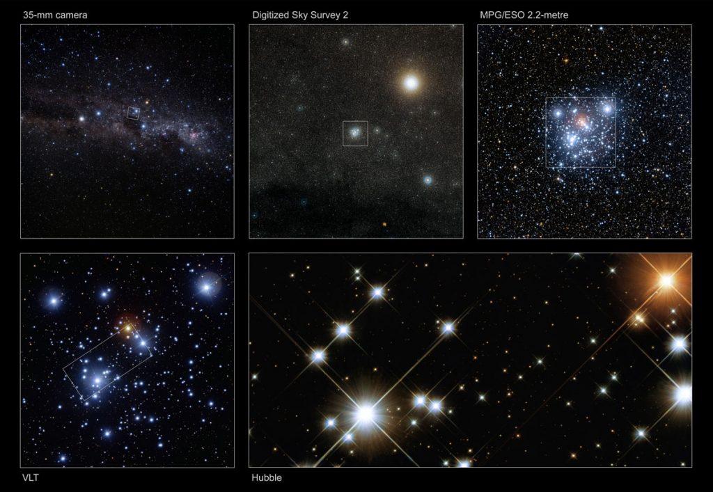 خوشه جعبه جواهر NGC 4755