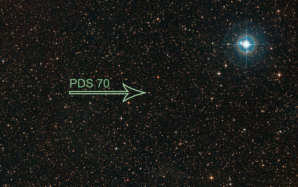 نخستین سیاره جوان در قرص اطراف ستاره
