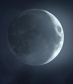 عوارض سطحی ماه به همراه هلال