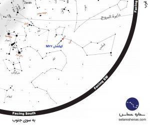 مکان کهکشان M77 در صورت فلکی قیطس