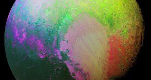 عکس افق های نو از سطح پلوتون