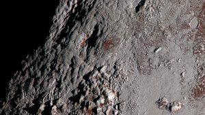 تصویر افق های نو از کوه های رایت پلوتون