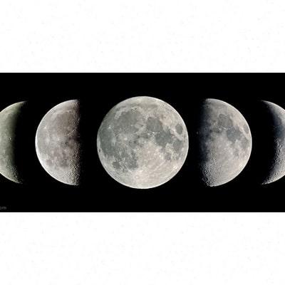 رصد فازهای مختلف ماه