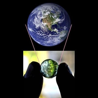 اندازه زمین در حالت سیاه چاله