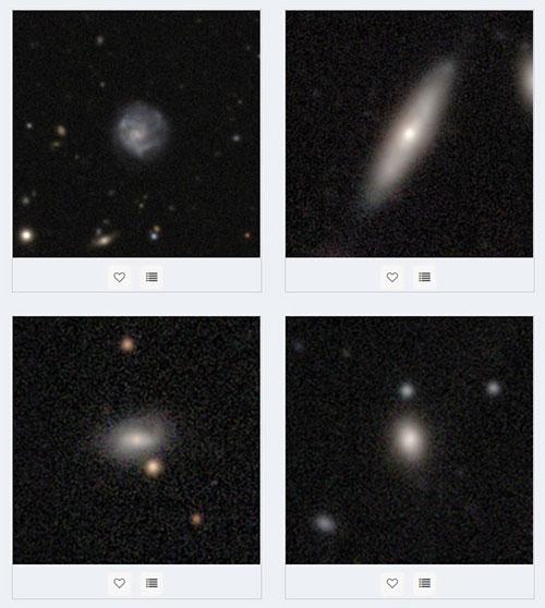 کهکشانها در پروژه Galaxy Zoo