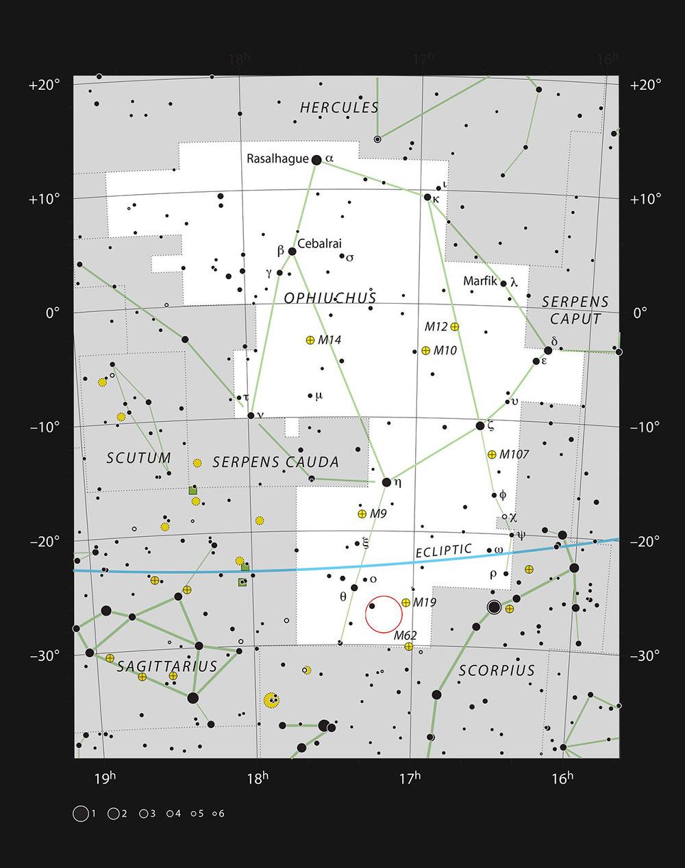 صورت فلکی مارافسای و موقعیت سحابی بارنارد59